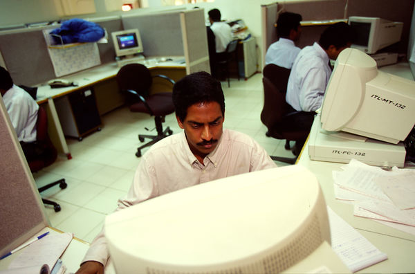 Staff at work at the Infosys Technologies