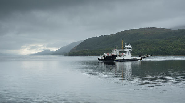 Crossing Loch Eil on the Corran ferry and onwards to Strontian