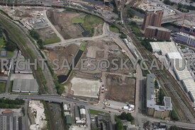 Middlewood Lock construction and development area Salford Central