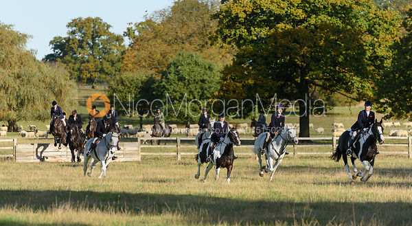 The field in Milton Park - Fitzwilliam Hunt Opening Meet 2016