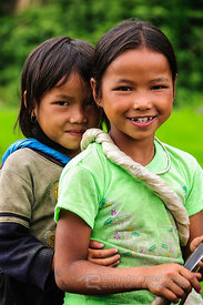 Two Hmong Girls Together