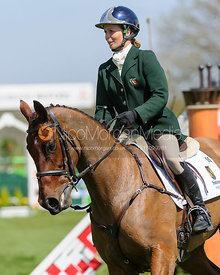 Sarah Ennis and SUGAR BROWN BABE - show jumping phase,  Mitsubishi Motors Badminton Horse Trials, 6th May 2013.