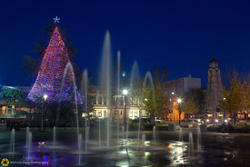 Downtown Chico Plaza at Christmas #1