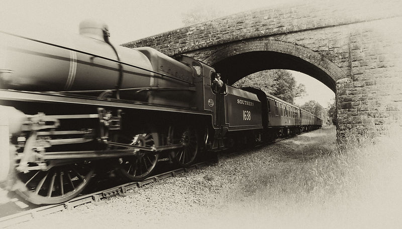 Antique Image of Bluebell Line Train