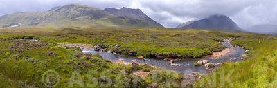 Stream of water through Glen Coe, Scotland