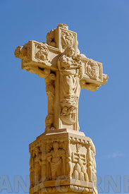 Carved stone cross.