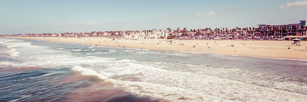 Huntington Beach Retro Panorama Photo