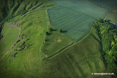 Oliver's Castle hill fort  Wiltshire