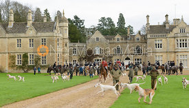 leaving the meet at Exton Hall