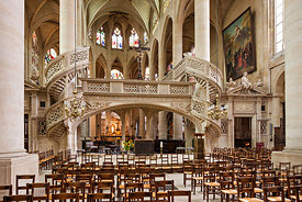 Saint Etienne du Mont church's rood screen, Paris