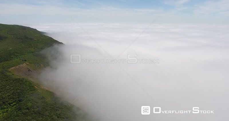 Overlooking Bolinas Bay California. Shrouded in fog