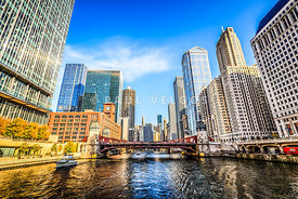 Picture of Chicago at LaSalle Street Bridge