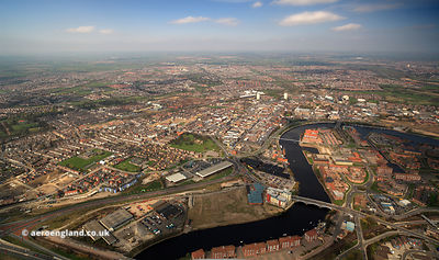 Stockton-on-Tees from the air