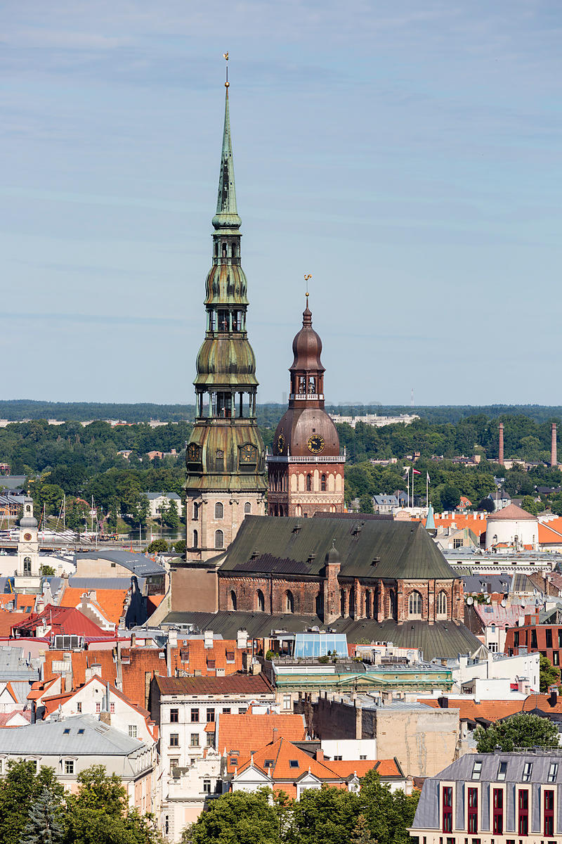 Elevated View of the Old Town of Riga