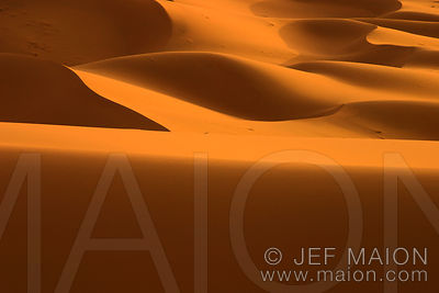 Light and shadows on sand dunes