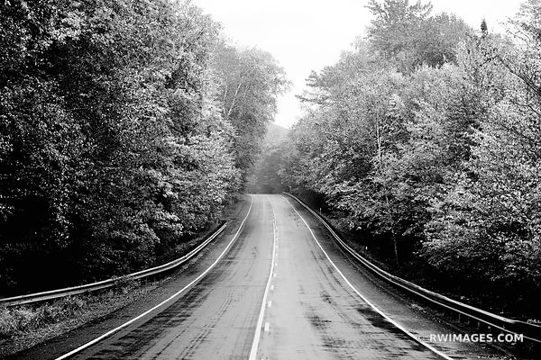 KANCAMAGUS HIGHWAY ROUTE 112 WHITE MOUNTAINS NEW HAMPSHIRE BLACK AND WHITE