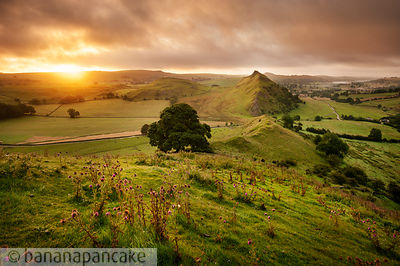 Parkhouse Hill from Chrome Hill, Peak District National Park - BP3274