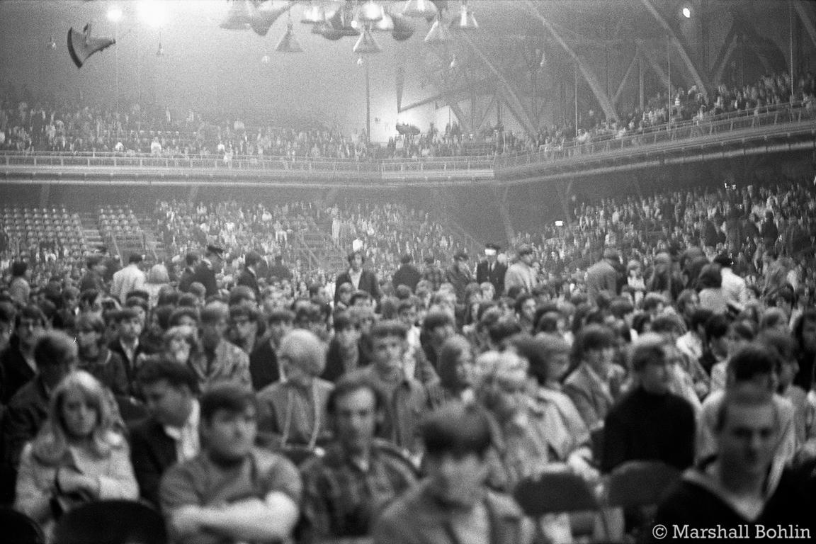 Audience waiting for Cream   Chicago Coliseum 1968
