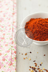 Smoked Paprika in White Bowl