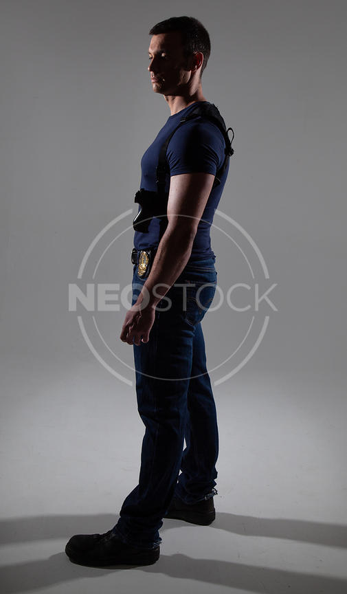 Craig Cinematic Street Cop Stock Photography