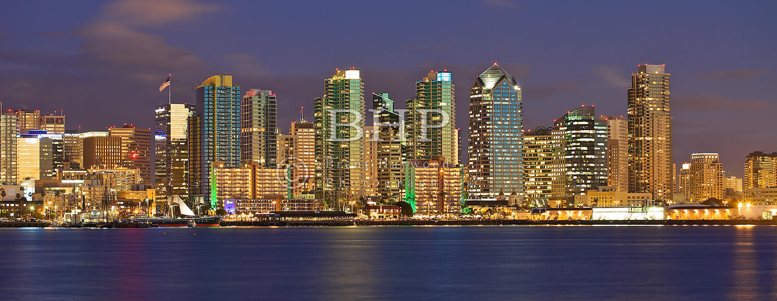 Brent Haywood Photography Downtown San Diego Skyline Sunset Photo