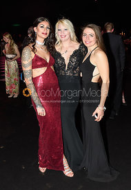 Lucie Nagar, Georgina Fielding, Rosie Cass. The Quorn Hunt Ball