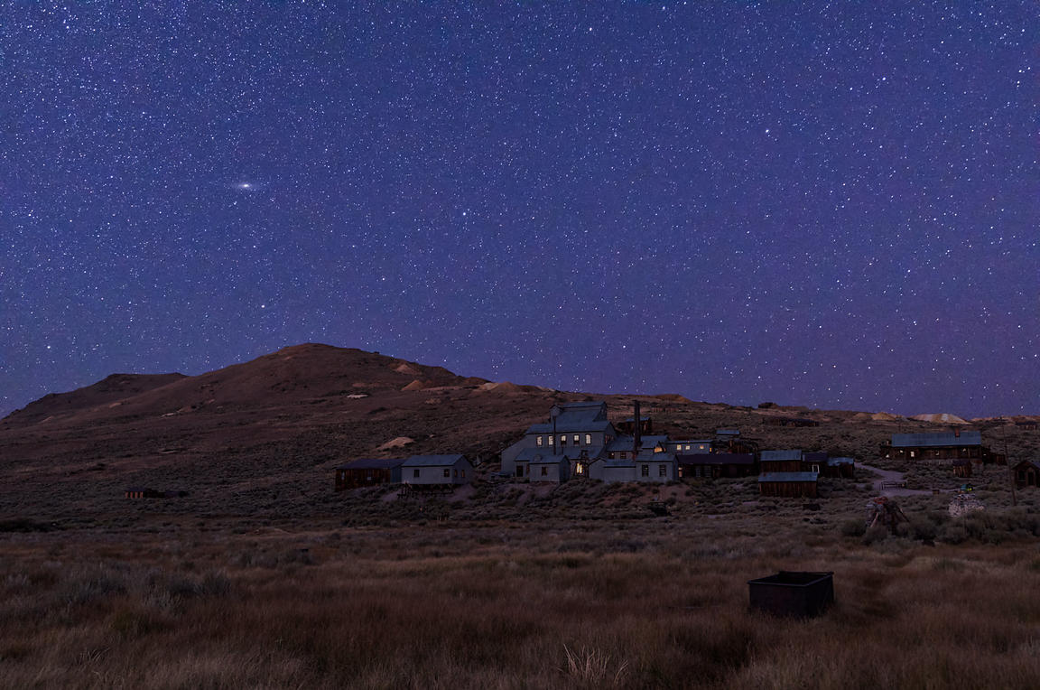 Ancient Light Above Bodie Ghost Town