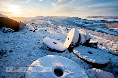 Abandoned Millstones below Stanage Edge - BP3390