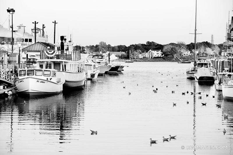 HARBOR PORTLAND MAINE BLACK AND WHITE
