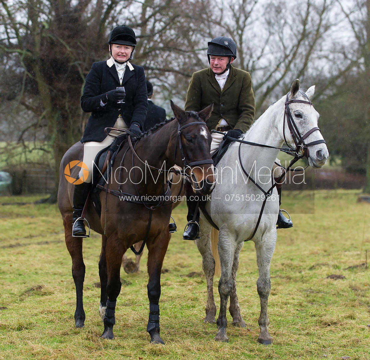 Adrienne Coombe and Andrew Collie - The Cottesmore Hunt at Belton-in-Rutland 21/12