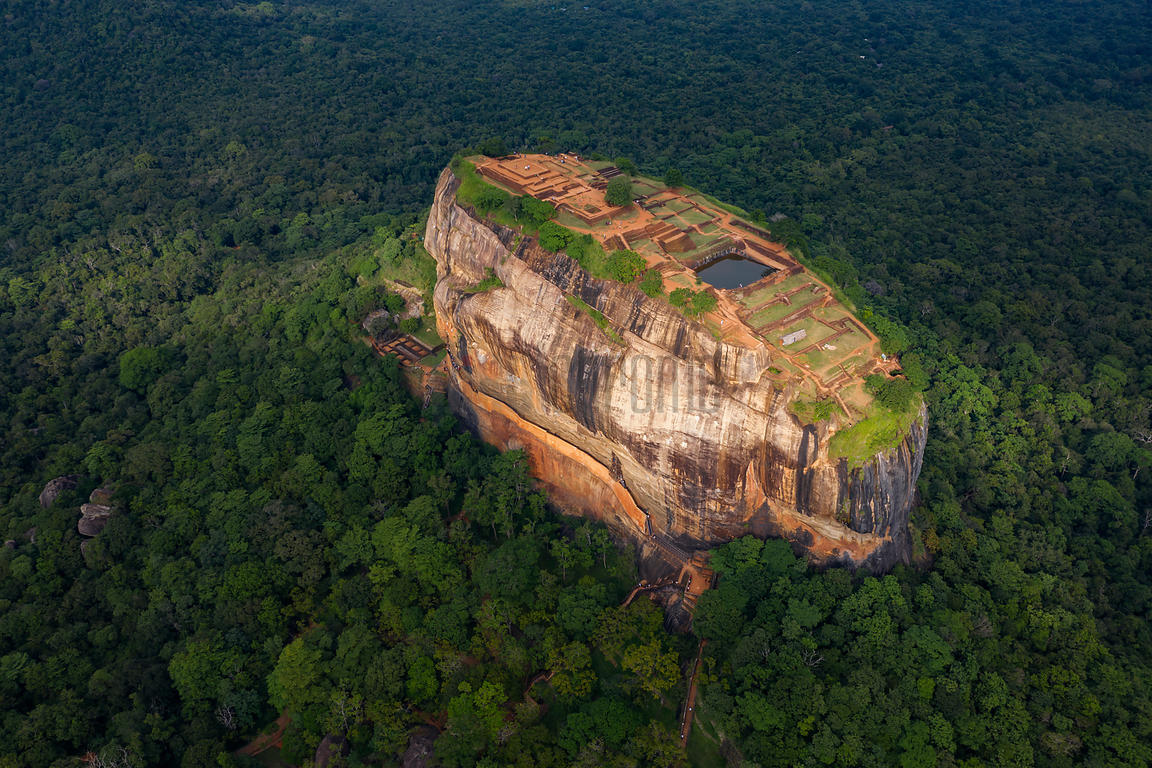 Elevated View of Lion Rock