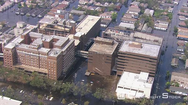 Aerial Shots of Flooded New Orleans, Hurricane Katrina.