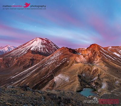 Mount Ngauruhoe (Mt Doom) at dawn, Tongariro National Park, New Zealand