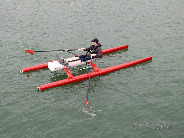 ROCAT proto-3 on its first outing - interested to see how it sits in the water and runs with the enlarged hulls