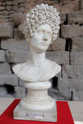"Marble bust of woman: ""The ""Fonseca"" Head. ""Portraits. The Many Faces of Power"" Exhibition"