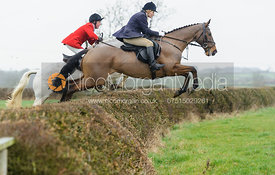 jumping a hedge above Chadwell