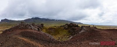 Saxholl volcano crater, Snaefellsnes peninsula, Iceland
