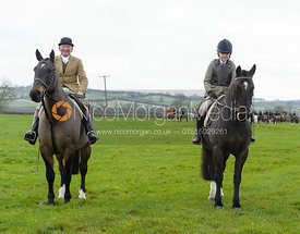 James Sparrow at the meet at Highfield Farm