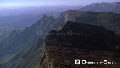 Aerial over a beautiful mountainous landscape Sabie. Mpumalanga South Africa