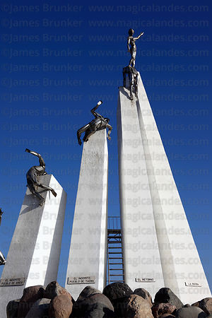 Monument at site of Battle of Alto de la Alianza , near Tacna , Peru