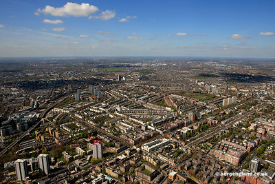 aerial photograph of the Edgeware Road  London England UK