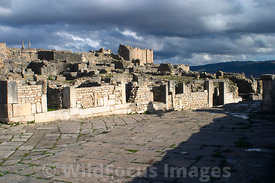 The shopping district of Dougga; Tunisia; Landscape