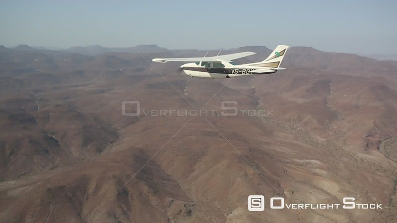 Plane flying over Kaokoland, Namibia. 2015.