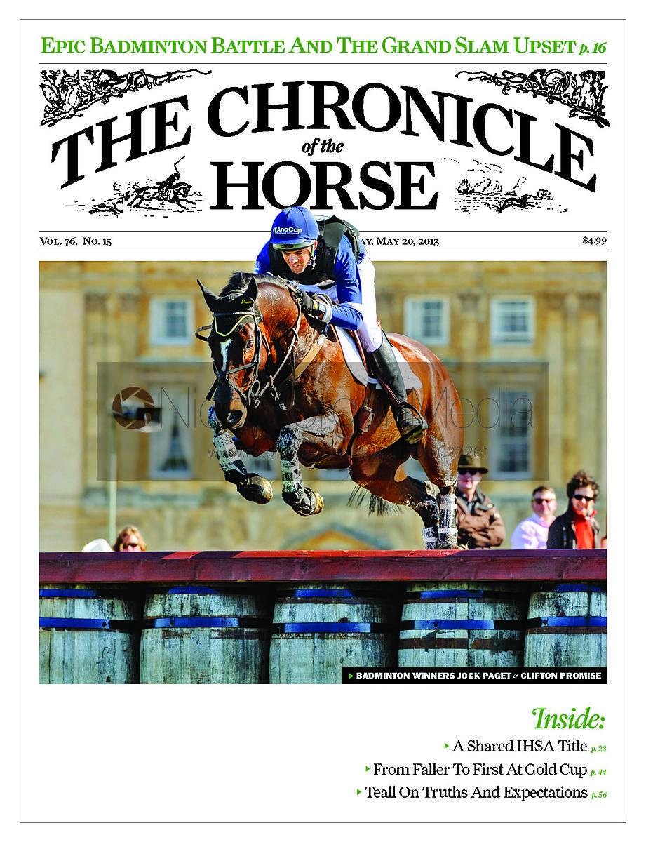 Jonathan Paget and Clifton Promise - Chronicle of the Horse, 20th May 2013