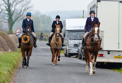 Jodie Parr at second horses. The Cottesmore Hunt at Braunston