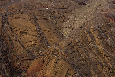 Aerial view of Rock patterns on the Ponta de Sao Lourenco Nature Reserve, Madeira, November