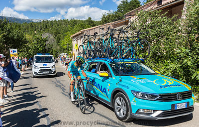 Astana Teamwork on Mont Ventoux - Tour de France 2016