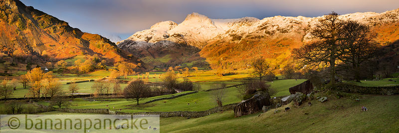 Winter sunrise, The Langdale Valley - BP3345