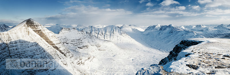 BP2252 - Panoramic view of Beinn Alligin, Torridon, Scotland