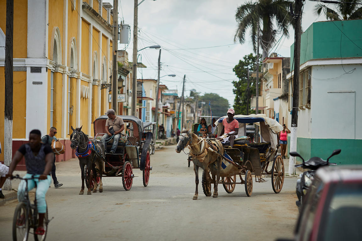 Horse drawn carriages on the streets